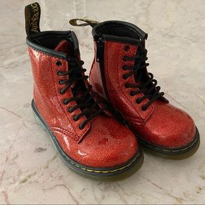 Dr. Martens 1460 Toddler Glitter Lace up Boot, EUC